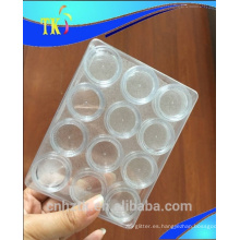 Cosmetic cream jar 12pcs sets kit de viaje cream jar Botellas de uñas, 3g 5gsmall botellas redondas