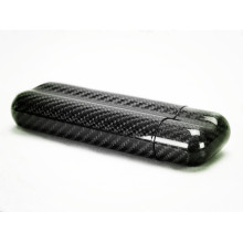 2 slots Carbon fiber cigar case