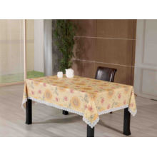 PVC Embossing Tablecloth with Flannel Backing (TJG0089A)