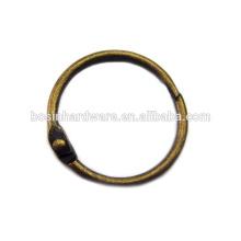 Art- und Weisequalitäts-Metallantike-Messingbinder-Ring