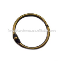 Fashion High Quality Metal Antique Brass Binder Ring