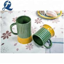 Caneca de cerâmica impressa personalizada com vidro colorido e preço no atacado