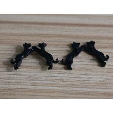 Nouveau produit design animal noir étiquettes en métal pour vêtements