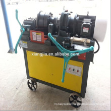 Thread roller machine for rebar coupler