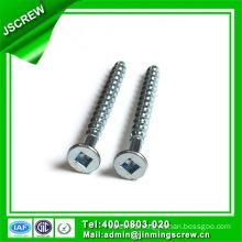 Square Wooden Screw M3.5X35 Zinc Plated Flat Head Self Tapping Screw