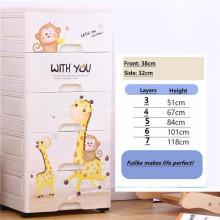 Gabinete de armazenamento gaveta caixa de armazenamento multi-camada cartoon