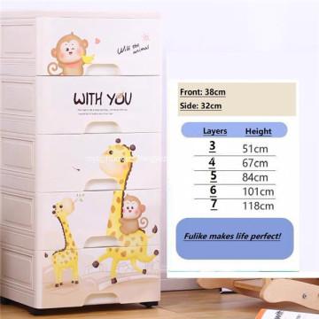 Cajón del gabinete de almacenamiento Caja de almacenamiento de dibujos animados de múltiples capas