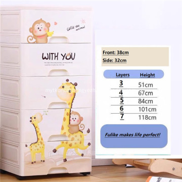 Storage Cabinet Drawer Multi-layer Cartoon Storage Box