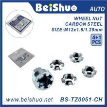 4 + 1 PCS / Set Wheel Lock Nuts pour Anti-Theft