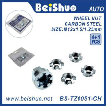 4+1 PCS/Set Wheel Lock Nuts for Anti-Theft