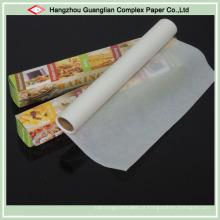 Rolos de papel de cozimento de silicone de lados dobro
