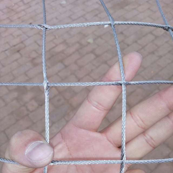 Stainless Steel 304 Ferruled Rope Mesh Fence