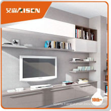 Competitive price light gray high glossy lacquer TV cabinet