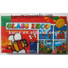 DIY живопись игрушка для детей,рекламные подарки,6 цветов стекло деко