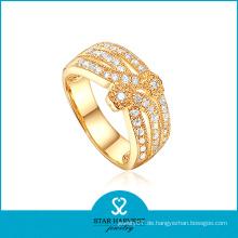2015 Heißer Verkauf 925 silberner Art- und Weisegold überzogener Ring (R-0235)