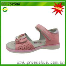 Meninas Summer Flower Beach Sandals macio e confortável