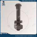 Button head diamond neck bolt with nut&washer