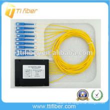 1X8 SC / UPC SM PLC divisor de fibra óptica
