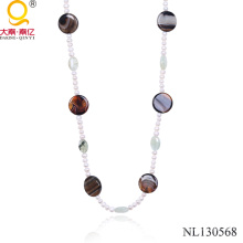 Вышитый бисером ожерелье 2014 мода ювелирные изделия ожерелье