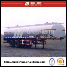 Reboque do tanque do aço carbono Q345 28600L para a entrega clara do óleo diesel (HZZ9290GYY) com bom preço