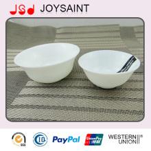 Cuenco de ensalada promocional simple del tazón de fuente de arroz de la cristalería del ópalo de la etiqueta para el uso en el hogar