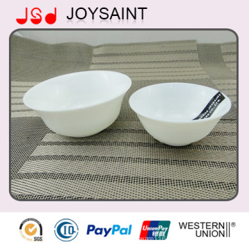 Promotional Simple Decal Opal Glassware Rice Bowl Salad Bowl for Home Use