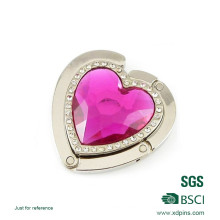 Vente en gros Crochet de crochet en sac métallique en forme de coeur (BHS-611)