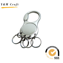 Distinctive Round Metal Key Ring with Clasp (Y02419)