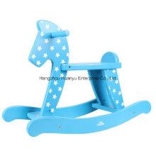 Suministro de la fábrica Caballo mecedora de madera rocker-blue del bebé