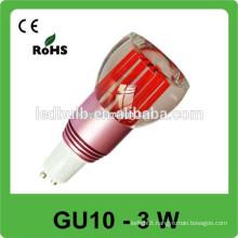 3w high power 110LM/W 85V-265V led rgb spot lamp