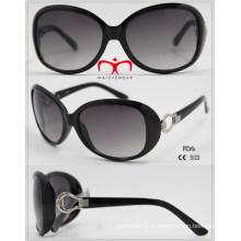 Lunettes de soleil à la mode UV400 de protection pour dames avec décoration en métal (WSP601540)