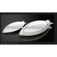 Plateaux à grignoter en forme de poisson -guangzhou en porcelaine P0068