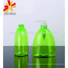 Botellas plásticas de la colada de la mano del ANIMAL DOMÉSTICO del triángulo 300ml