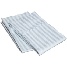 250tc cotton poly  2cm stripe pillowcase