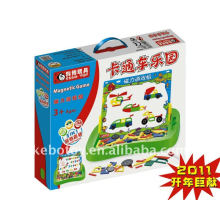 Cartoon car world practise DIY ability Puzzles toys
