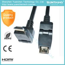 Cable al por mayor de la rotación 1080P de HDMI del OEM 90 grados