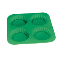 LFGB Customized 4 PCS Round Silicone Cake Mould