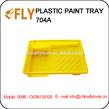 Желтая пластиковая ванночка для краски