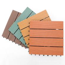 Decking Tiles WPC 300mmx300mmx20mm Chocolate AntiSlip Box of 11 Maintenance Free