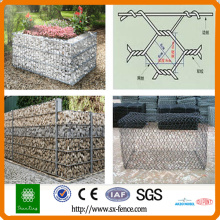 Galvanized and pvc coated gabion box