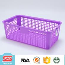 Paniers de rangement multifonctionnels en plastique rectangulaires durables pour des cadeaux