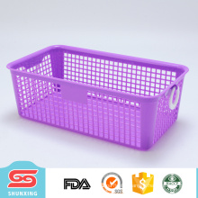 Durable rectangular plastic multipurpose storage baskets for gifts