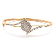 18k Gold über Silber Spark Armbänder Schmuck mit Zirkonia