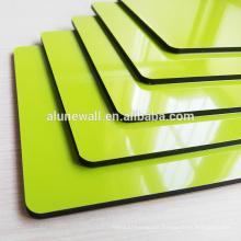 Panel compuesto de aluminio con núcleo verde continuo sin pulir ACP