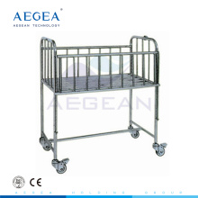 stainless steel mobile infant cot crib hospital furniture and equipment
