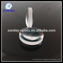 Optical double convex glass lens