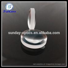 Lente de vidro duplo convexo óptico