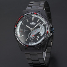 multi function sport watch with sub-dial design stainless steel band