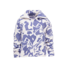 Autumn Winter New Arrival Hot Sale Ladies' Printed Sherpa Jacket  With Warm and Soft Handfeel