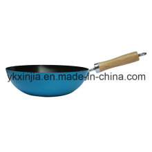 Utensílios de Cozinha Aço Carbono Colorido Mini Wok Panelas